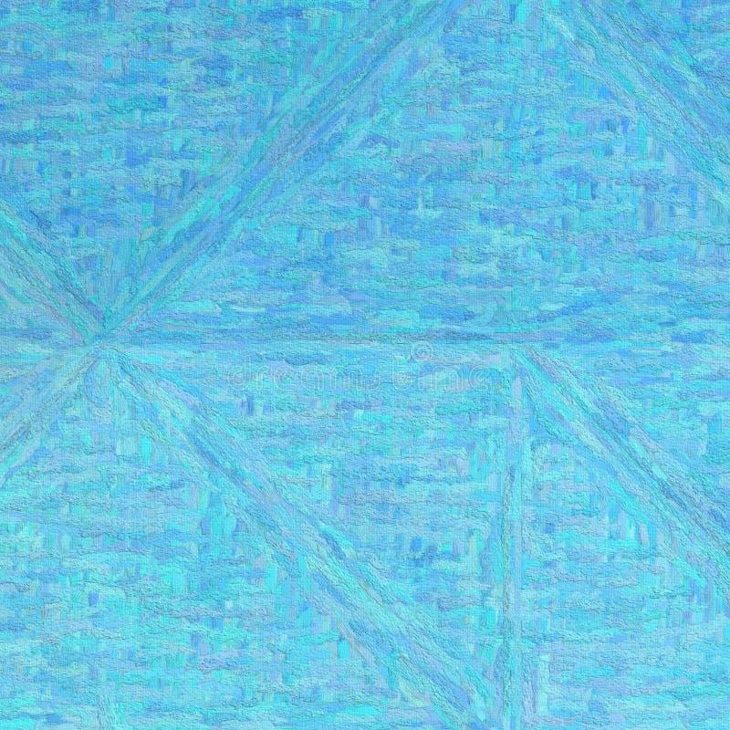 Blå impressionism Impasto i fyrkantig formbakgrundsillustration royaltyfri illustrationer
