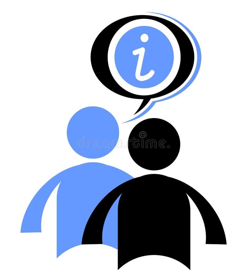 Blå information royaltyfri illustrationer