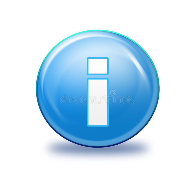 blå information om symbol royaltyfri illustrationer