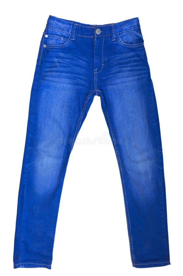 blå isolerad jeans royaltyfri foto