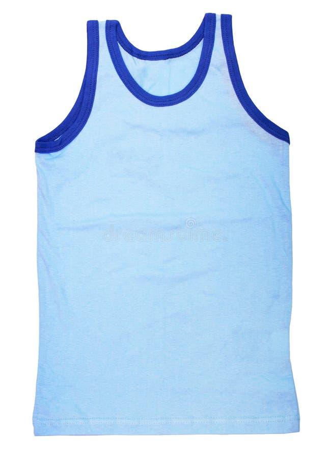 blå isolerad jersey för bakgrund white arkivfoto