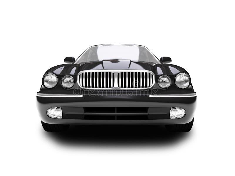 blå isolerad sikt för bil framdel vektor illustrationer