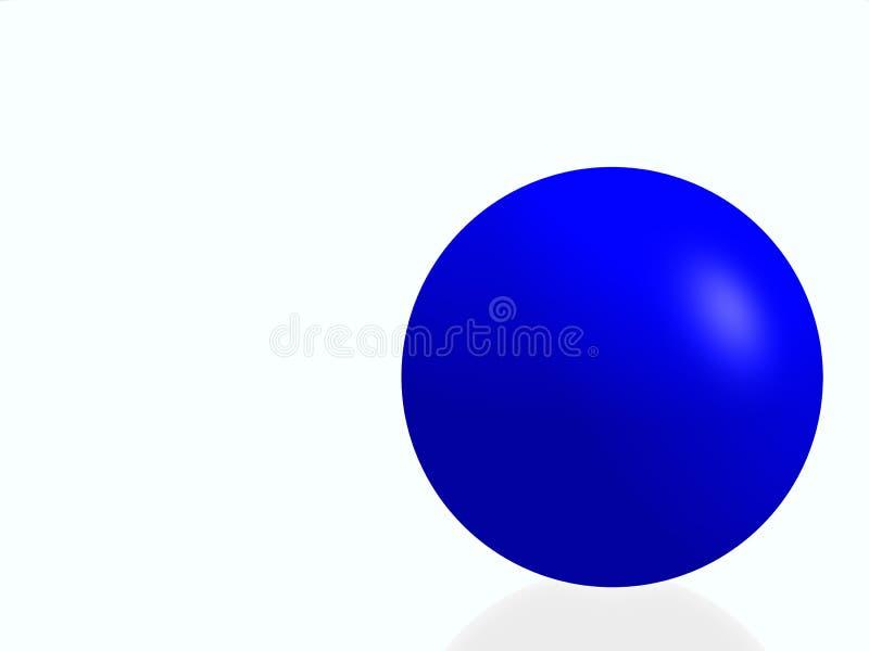 blå isolerad sphere vektor illustrationer