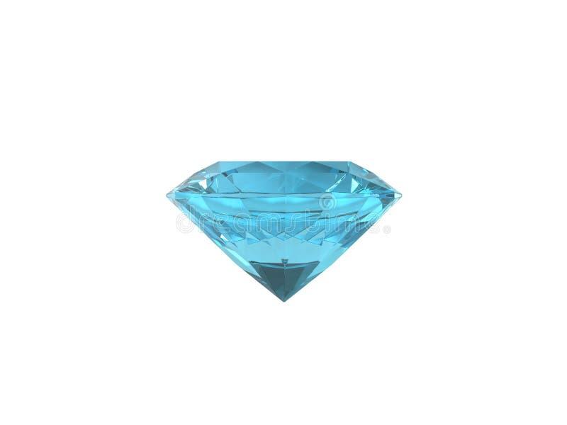 blå isolerad topazwhite för bakgrund stock illustrationer