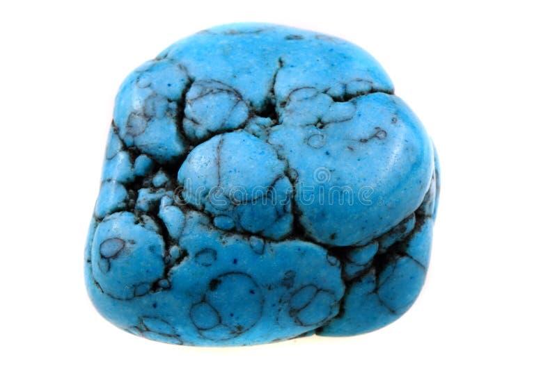 Blå isolerad turkosmineral royaltyfri fotografi