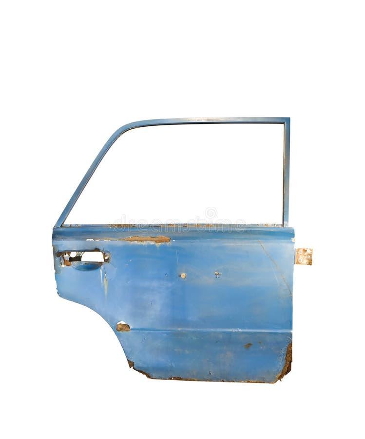 blå isolerad white för bildörr arkivfoto