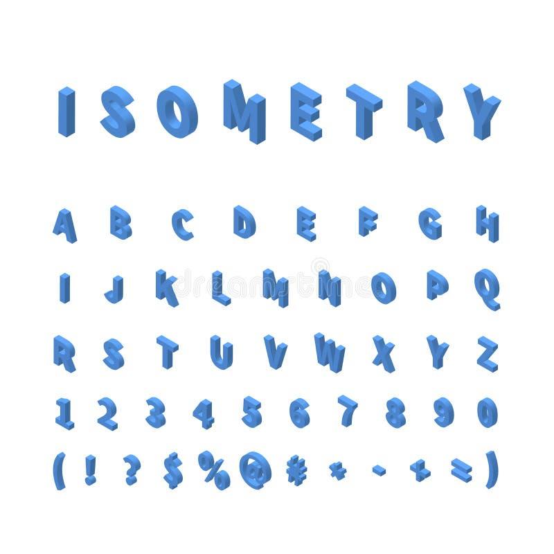 Blå isometrisk stilsort som isoleras på vit royaltyfri illustrationer