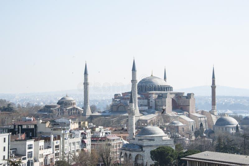 blå istanbul moské royaltyfria bilder