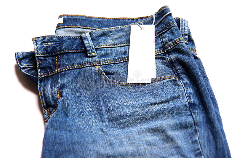 Blå jean. royaltyfri fotografi