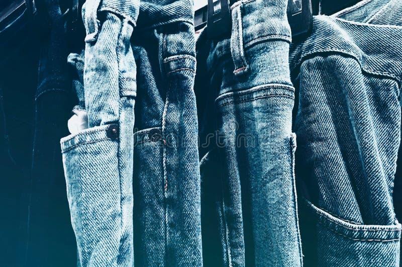 Blå, Jeans, närhet royaltyfria foton