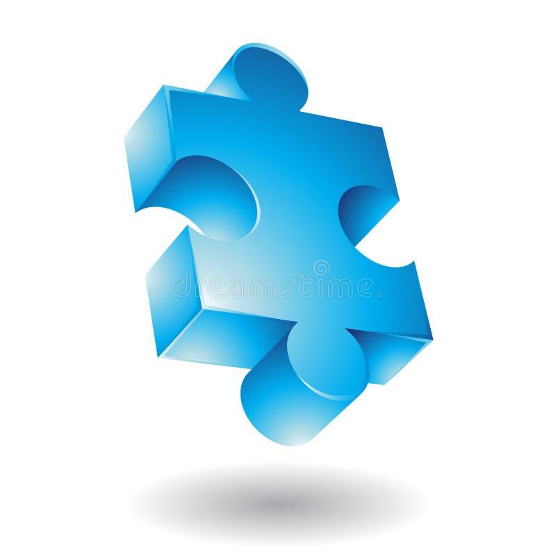 blå jigsaw royaltyfri illustrationer
