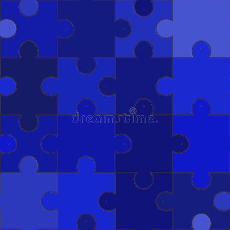 blå jigsaw vektor illustrationer