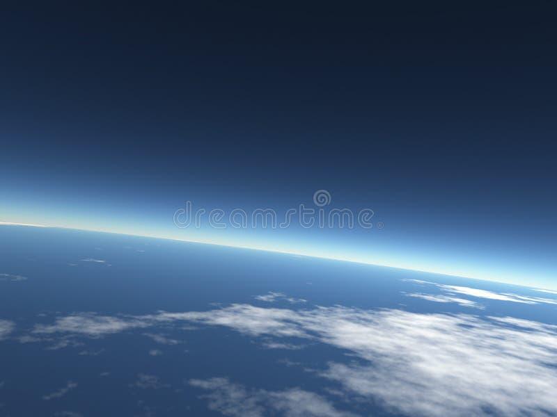 blå jordsky för bakgrund royaltyfria bilder