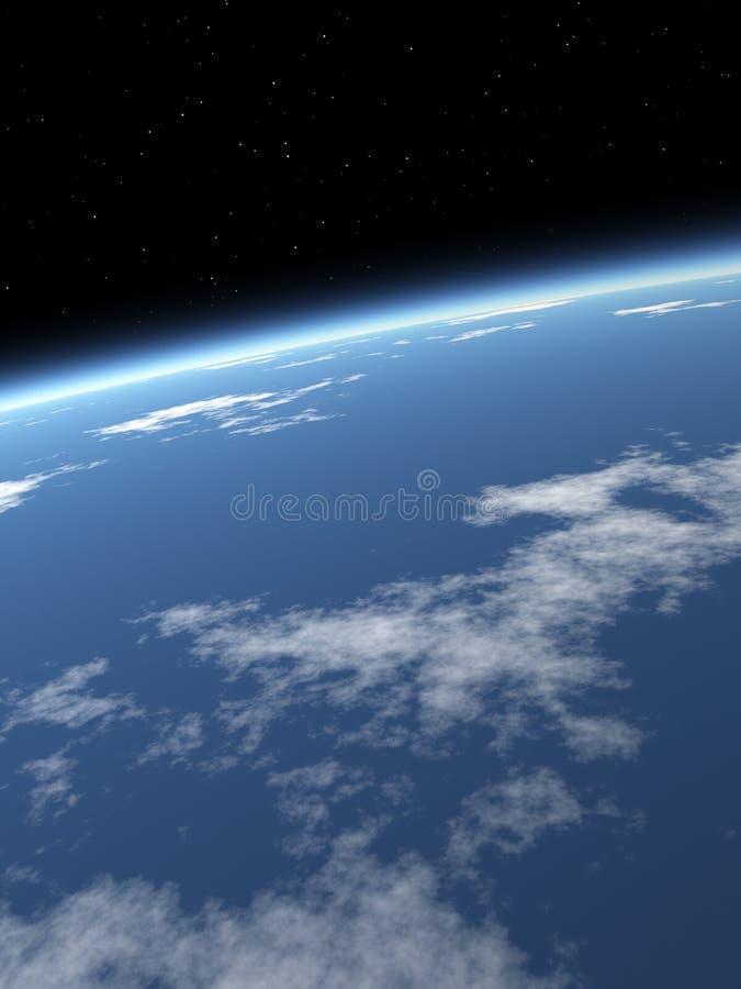 blå jordsky för bakgrund royaltyfri fotografi