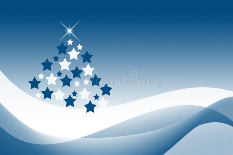 blå jul vektor illustrationer