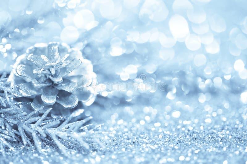 Blå julbakgrund royaltyfria foton
