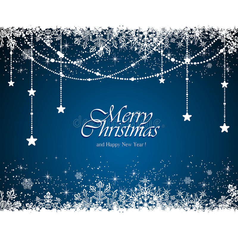 Blå julbakgrund stock illustrationer