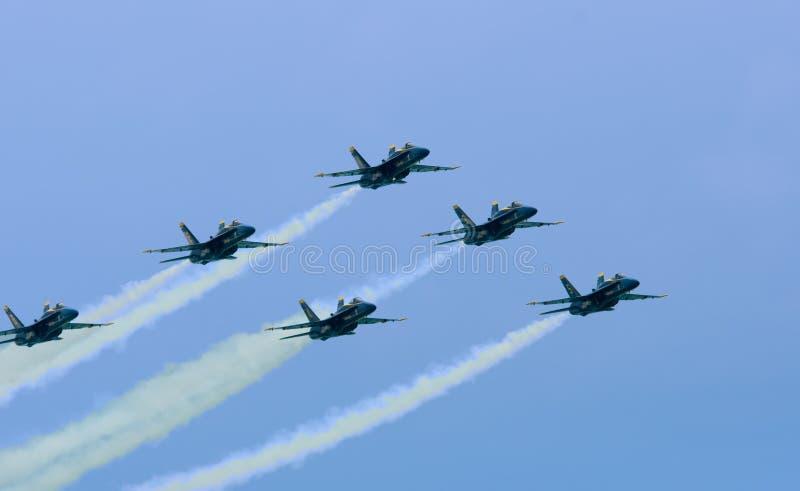 blå juli för 10 2009 luftänglar show arkivbild