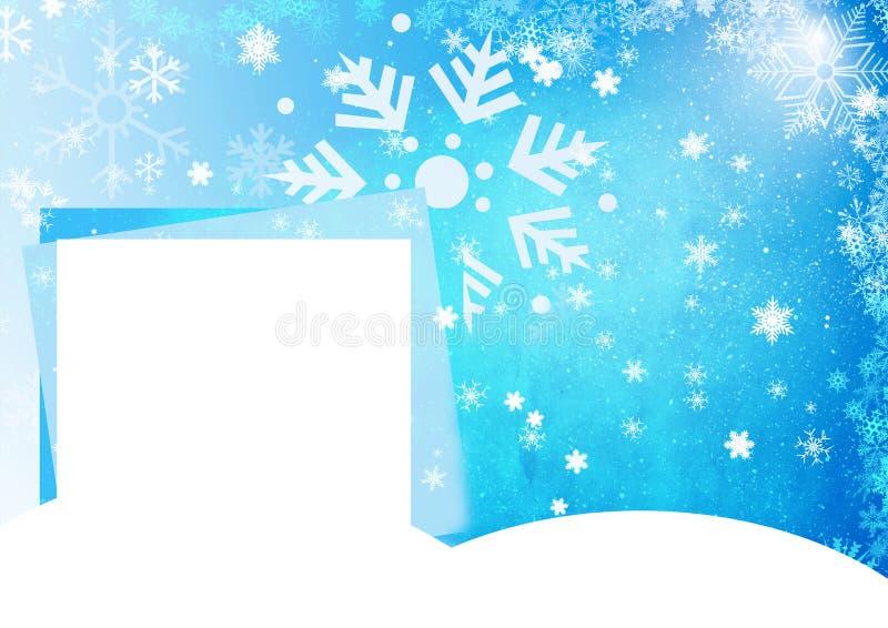 Blå julkort stock illustrationer
