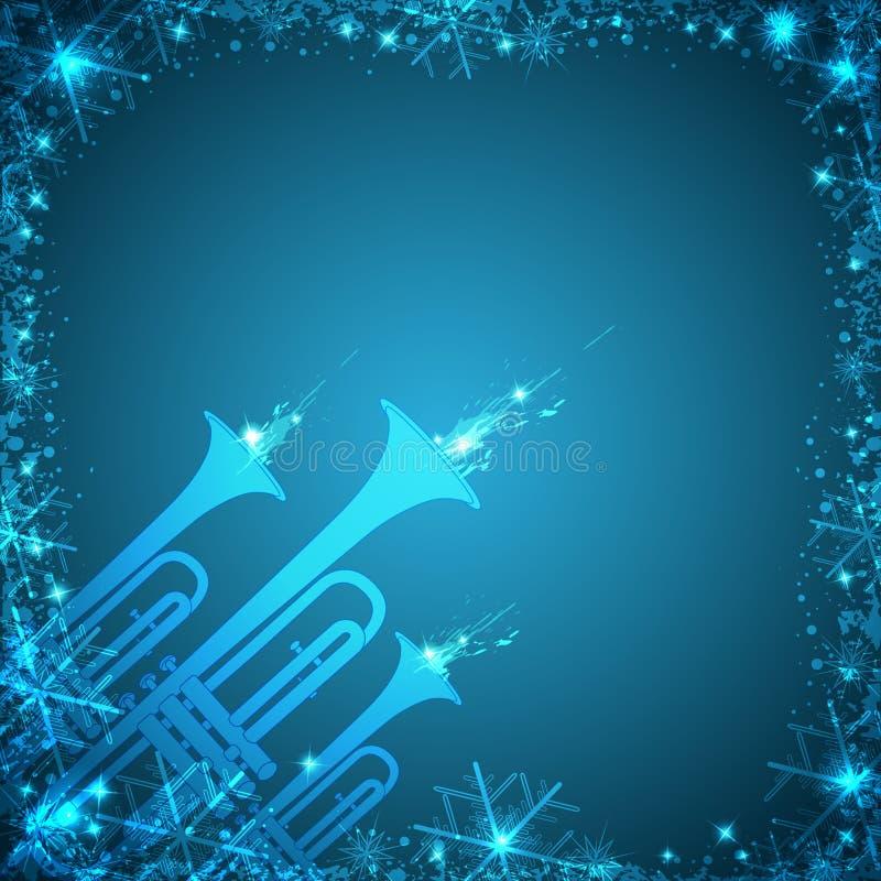 Blå julkort vektor illustrationer