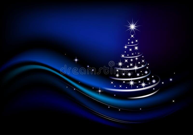 blå jultree vektor illustrationer
