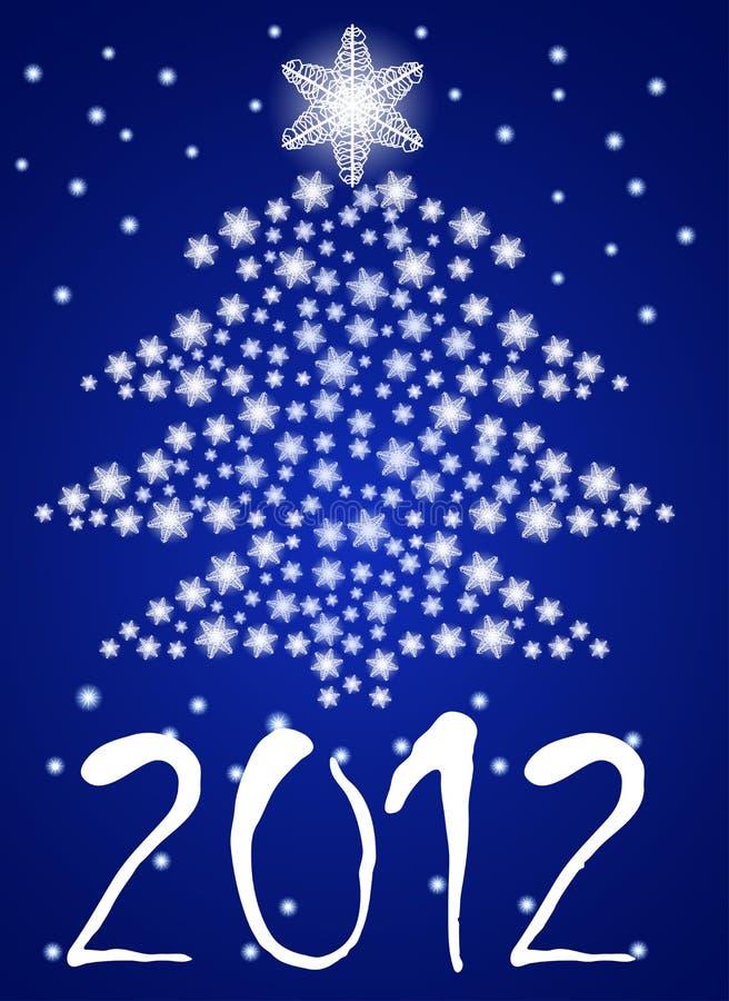 blå jultree för abstrakt bakgrund stock illustrationer