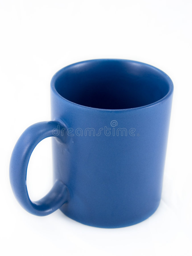 Blå kaffekopp royaltyfria bilder