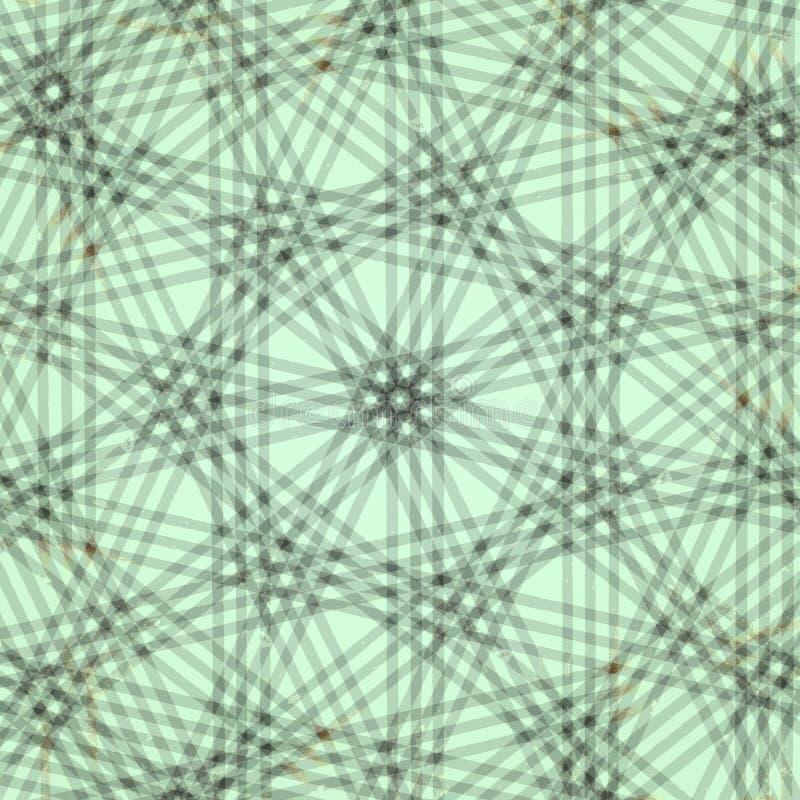 blå kaleidoscopegräns royaltyfri illustrationer