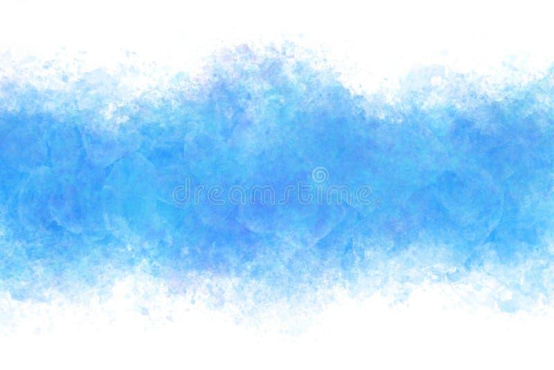 Blå kall isabstrakt begrepp för sommar eller bakgrund för tappningvattenfärgmålarfärg vektor illustrationer