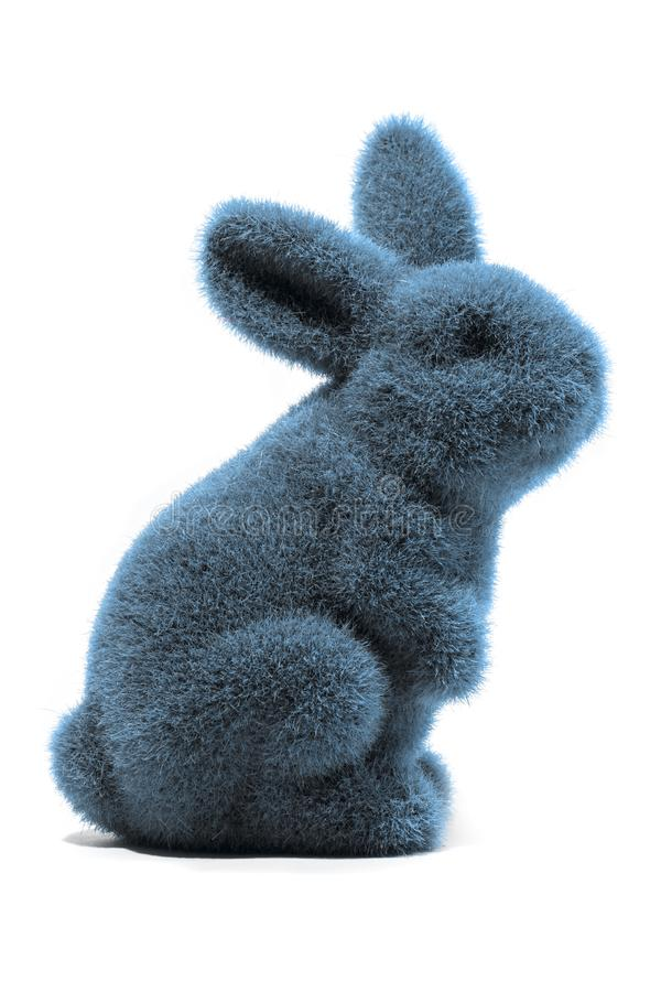 blå kanin easter royaltyfri foto
