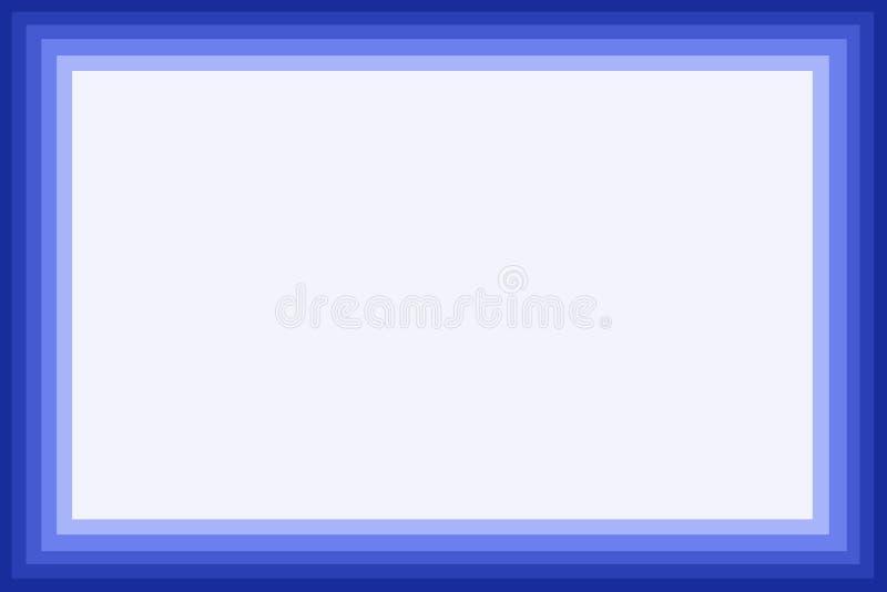 blå kant stock illustrationer