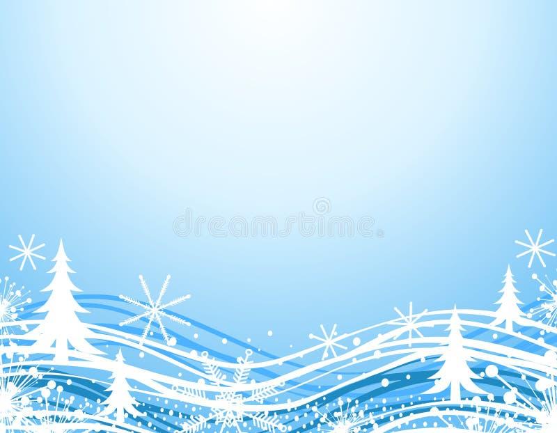 blå kantjulvinter royaltyfri illustrationer