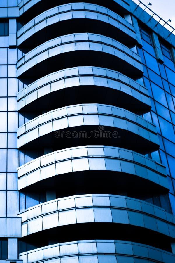 blå kantjusteringstjänsteman för abstrakt balconys fotografering för bildbyråer
