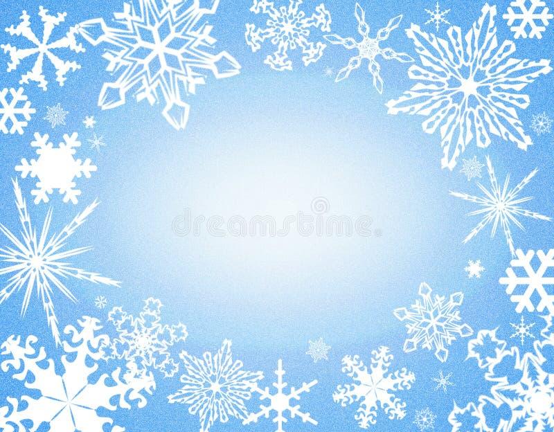 blå kantsnowflake stock illustrationer