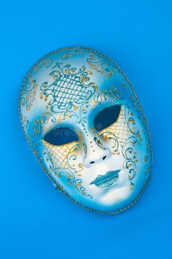 blå karnevalitalienaremaskering arkivbilder