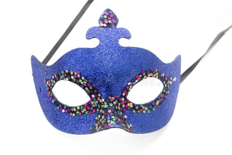 blå karnevalmaskering royaltyfri foto