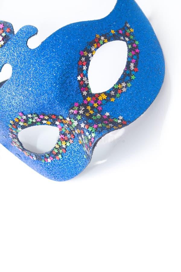 blå karnevalmaskering fotografering för bildbyråer