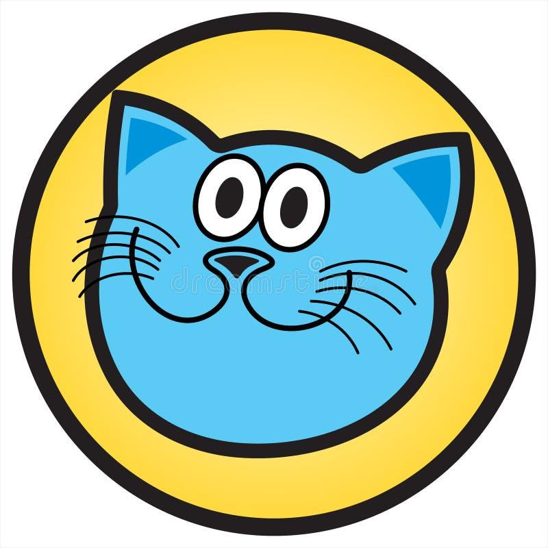blå katt vektor illustrationer