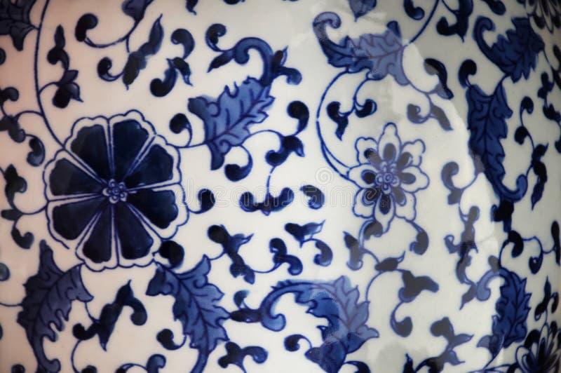 blå kinesisk porslinwhite royaltyfria foton