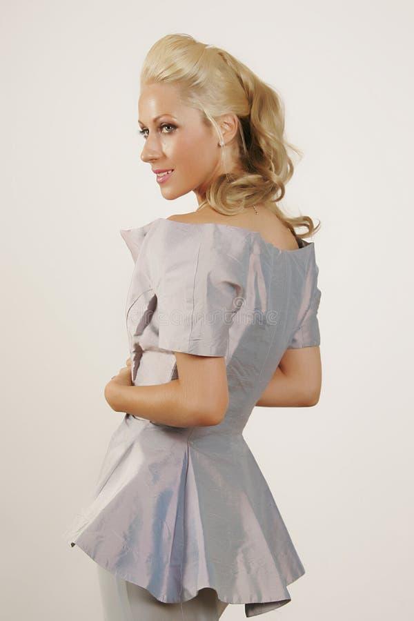 blå klänning arkivfoton