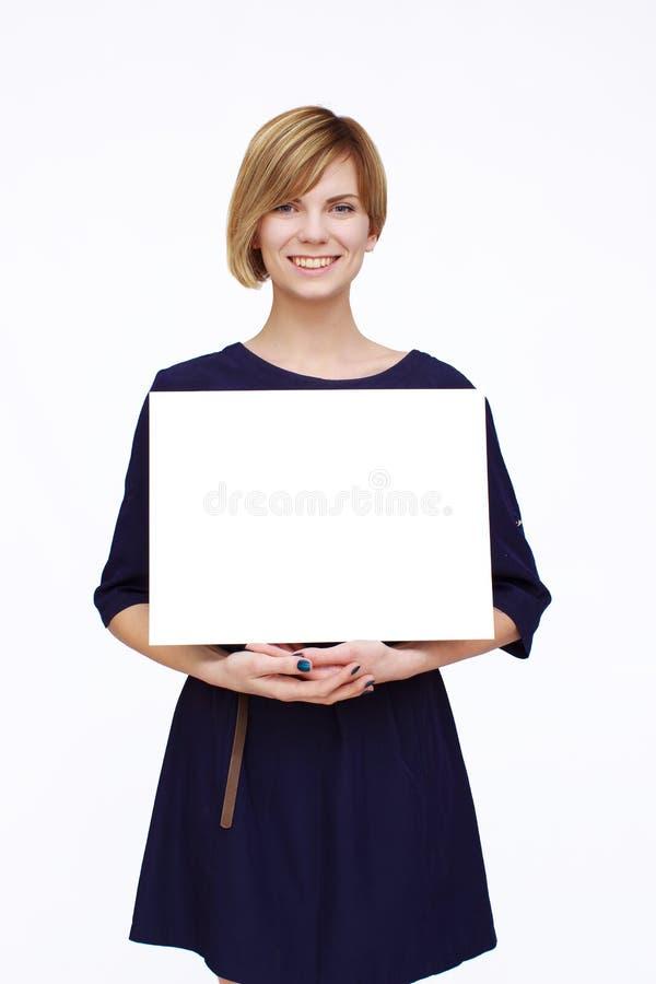 blå klänningkvinna fotografering för bildbyråer