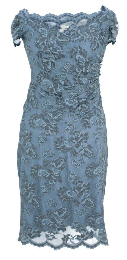 blå klänningmaike royaltyfri foto
