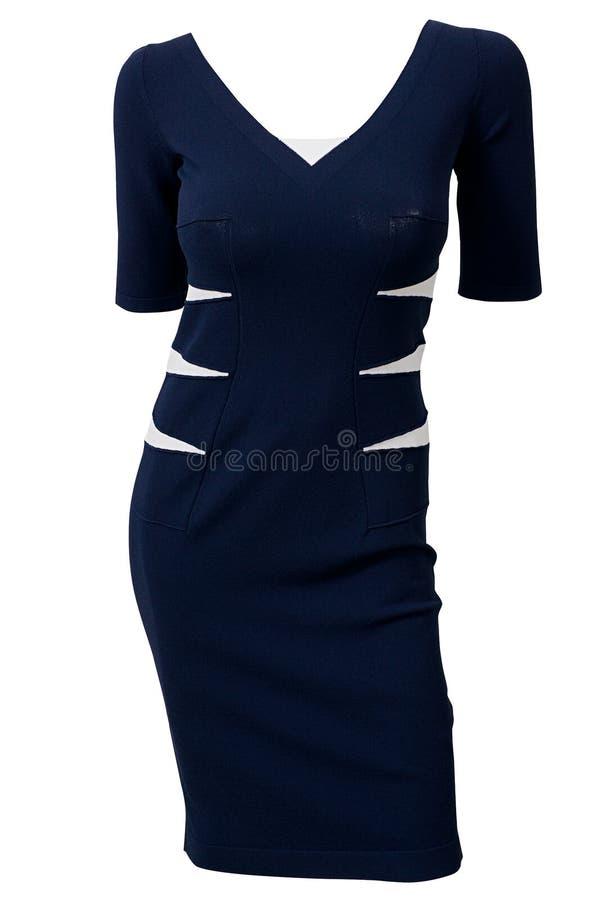 blå klänningmaike royaltyfri fotografi