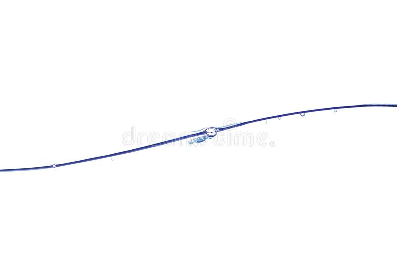 blå klar vattenwave arkivbild