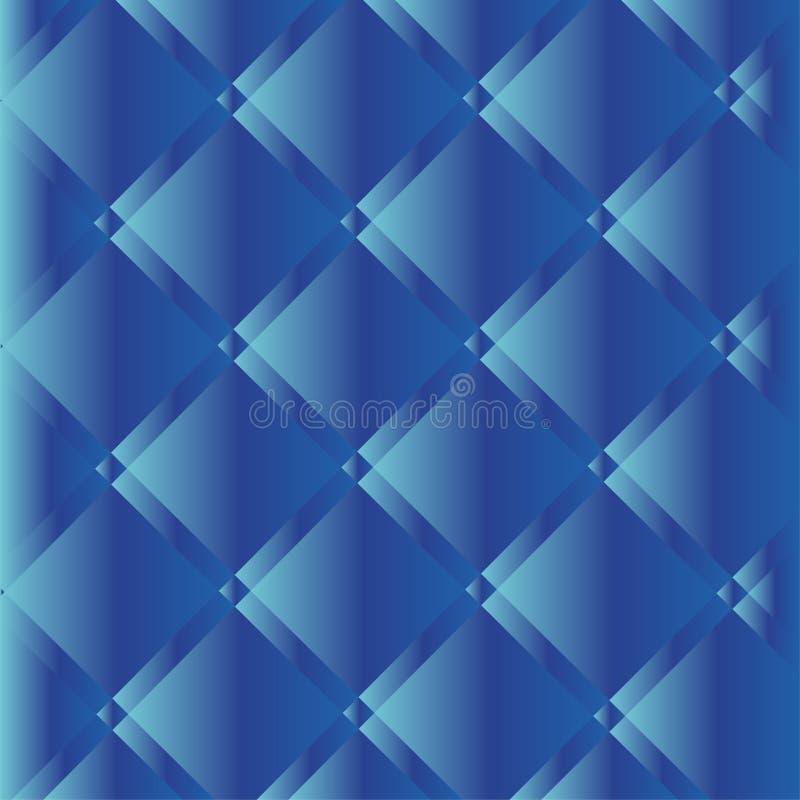 Blå knapp Tufted läderbakgrund också vektor för coreldrawillustration vektor illustrationer