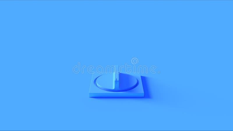 Blå knappströmbrytare vektor illustrationer