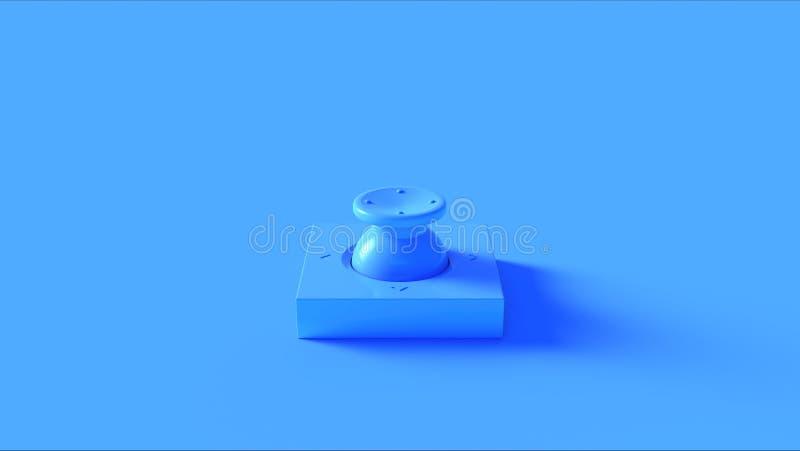 Blå knappströmbrytare royaltyfri illustrationer