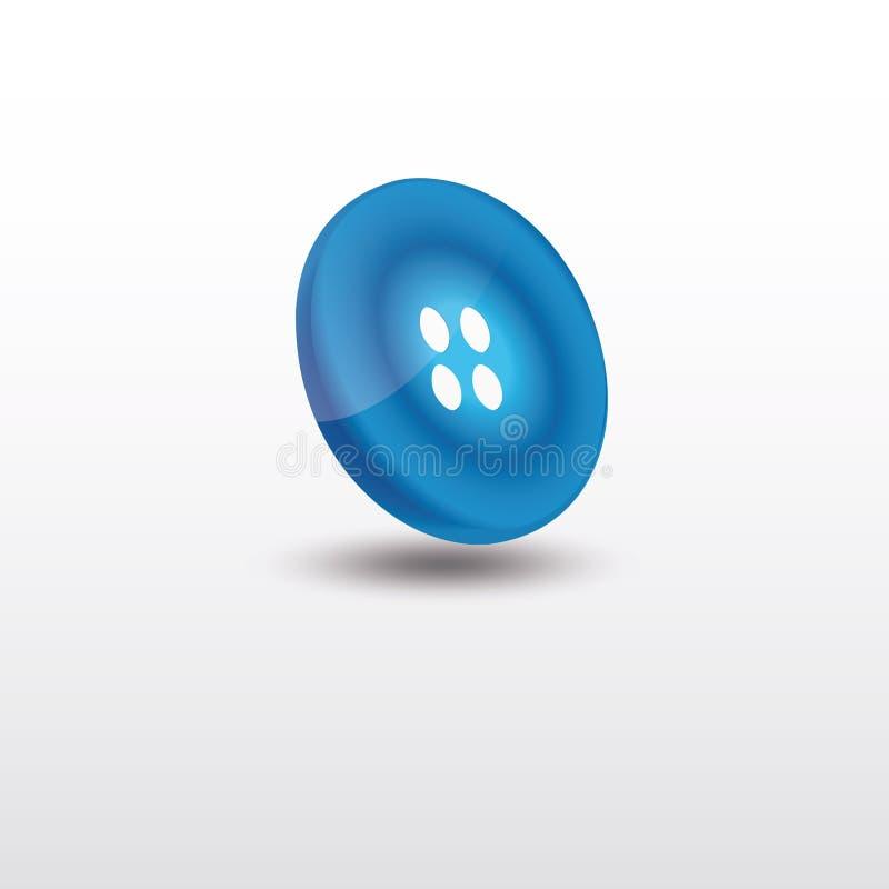 Blå knopp, 3D design, vektorillustration, logodesign royaltyfri illustrationer