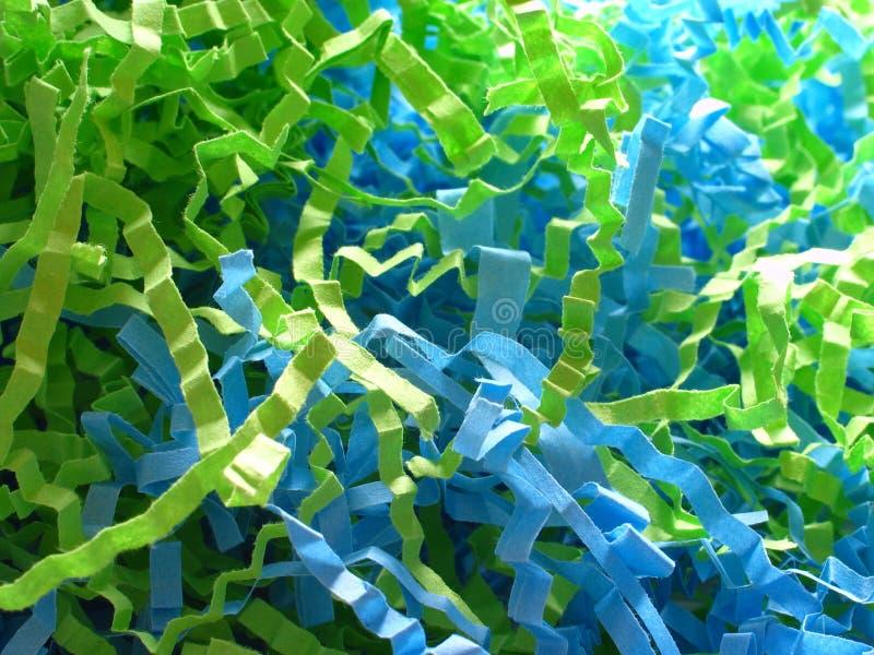 blå konfettigreen royaltyfri foto