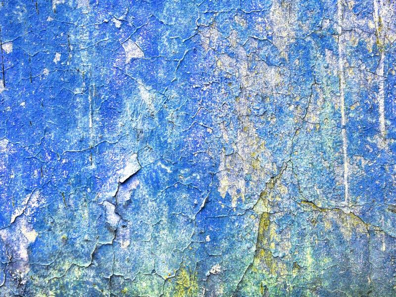 Blå konkret texturbakgrund, tappningfärgsignal arkivfoton